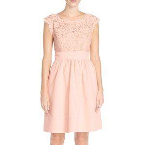 Eliza J Blush Lace & Faille Dress, Size 14, NWT